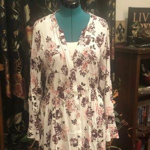 Torrid White Button down dress